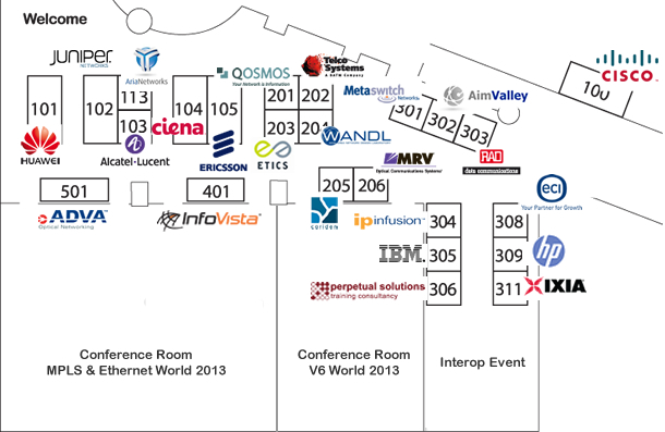 MPLS & Ethernet exhibition floor plan